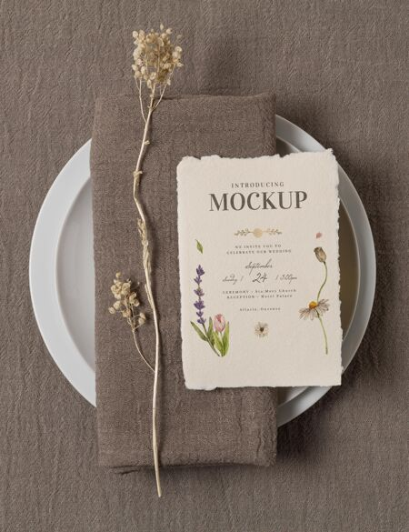 各式各样的婚礼模拟卡