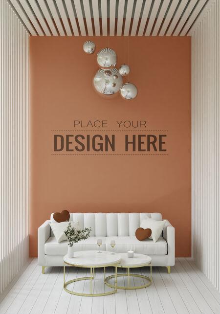 空墙室内家具3d