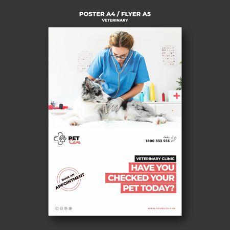 兽医海报模板