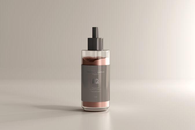 化妆品奶油瓶模型