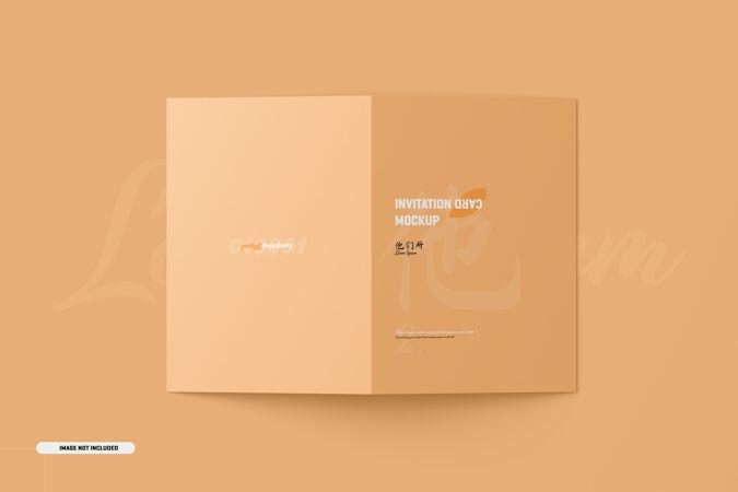 A5a6折叠宣传册卡片模型