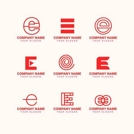 一套平面e标志模板