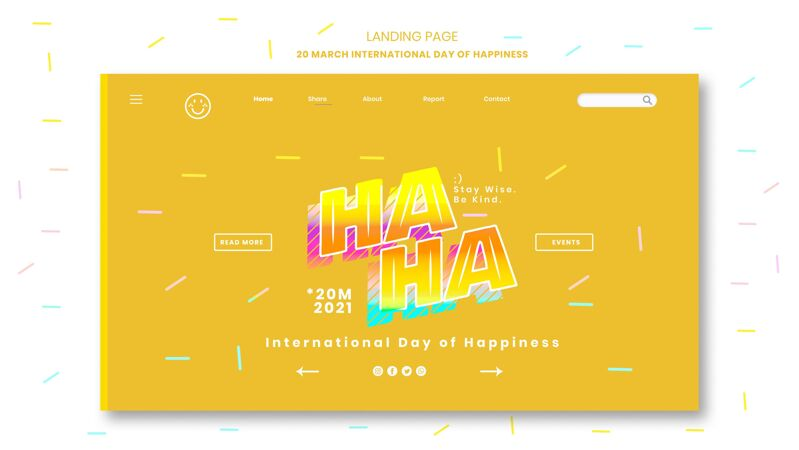国际幸福日登陆页