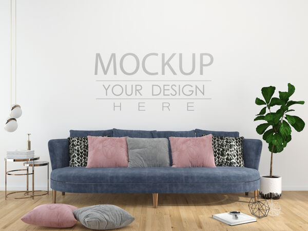 现代客厅内墙模型