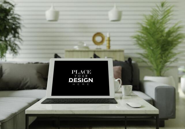 桌上平板电脑模型