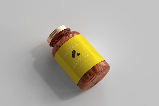 琥珀药瓶模型