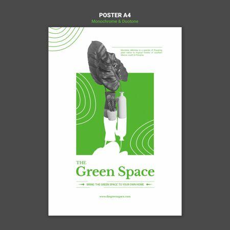 绿地海报模板